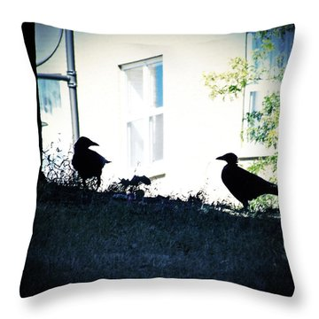 The Hitchcock Moment Throw Pillow by Serge Averbukh