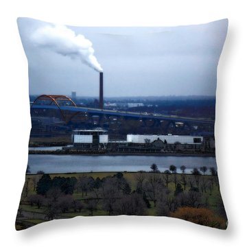 Throw Pillow featuring the digital art The Hoan by David Blank