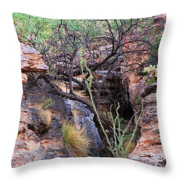 The Hole - Mount Lemmon Throw Pillow