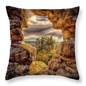 Throw Pillow featuring the photograph The Hole In The Wall by Chris Cousins