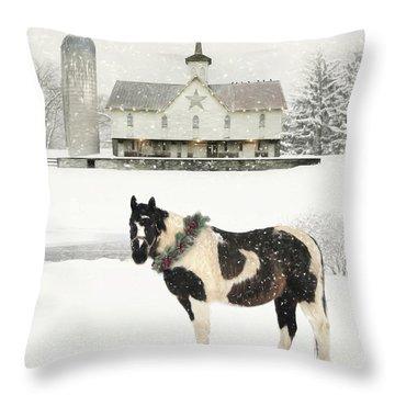 The Holiday Spirit Throw Pillow