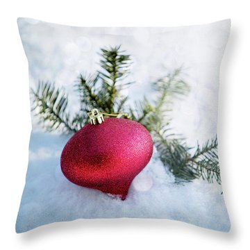 Throw Pillow featuring the photograph The Holidays by Rebecca Cozart