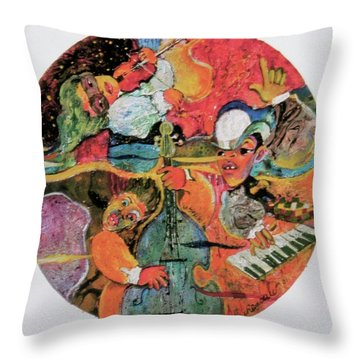 The Holland Jazz Trio Throw Pillow