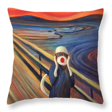 Throw Pillow featuring the painting The Holler by Randol Burns