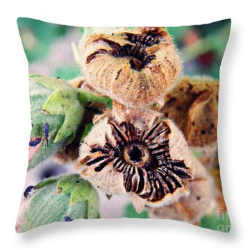 The Hollyhocks Are Gone Now 2 Throw Pillow