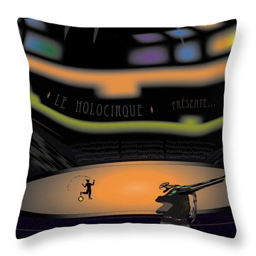The Holocircus Presents... Throw Pillow