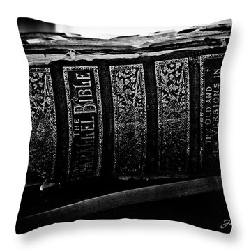 The Holy Bible Throw Pillow by Joann Copeland-Paul