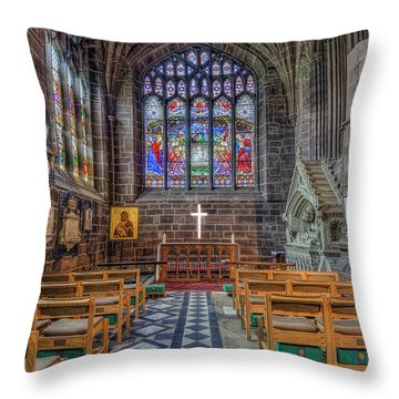 Throw Pillow featuring the photograph The Holy Cross by Ian Mitchell