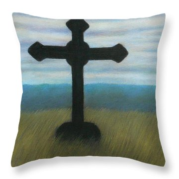The Holy Cross Throw Pillow