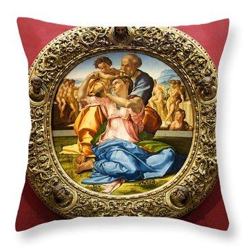 The Holy Family - Doni Tondo - Michelangelo Throw Pillow