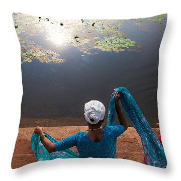 The Holy Pond Throw Pillow