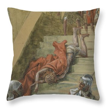 The Holy Stair Throw Pillow by Tissot
