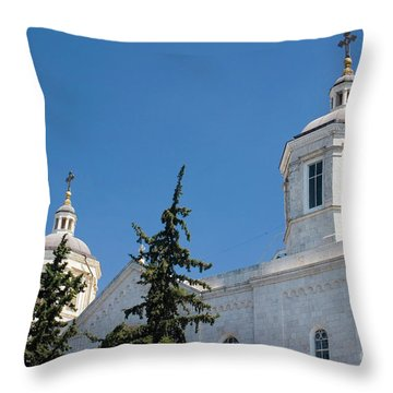 The Holy Trinity Cathedral, Jerusalem Israel  Throw Pillow