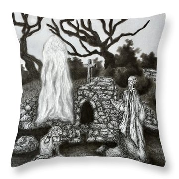 The Holy Well Throw Pillow