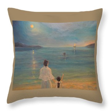Throw Pillow featuring the painting The Homecoming by Donna Tucker