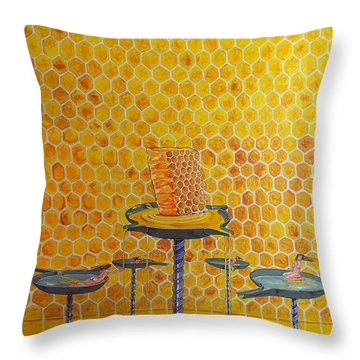 The Honey Of Lives Throw Pillow