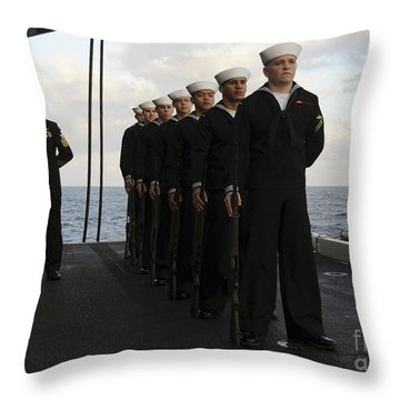The Honor Guard Stands At Parade Rest Throw Pillow by Stocktrek Images