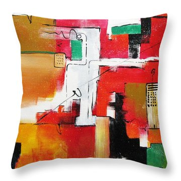 Throw Pillow featuring the painting The Hood by Gary Smith