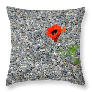 The Hopeful Poppy Throw Pillow