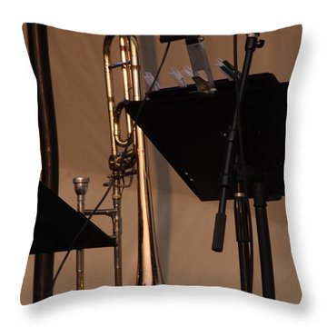 The Horn Throw Pillow