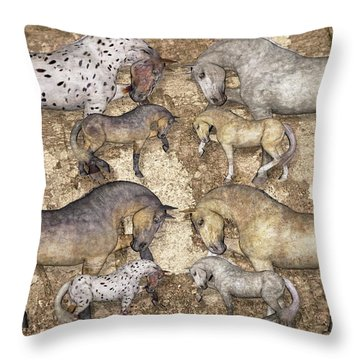 The Horse Collection Throw Pillow