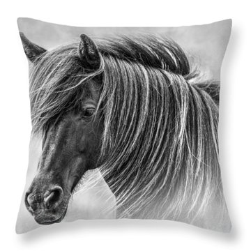 The Horses Of Iceland Throw Pillow