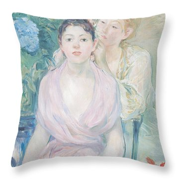 The Hortensia Throw Pillow by Berthe Morisot