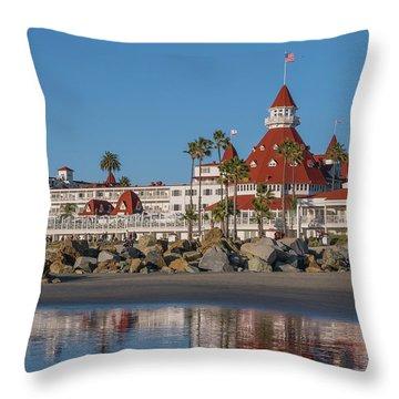 The Hotel Del Coronado Throw Pillow