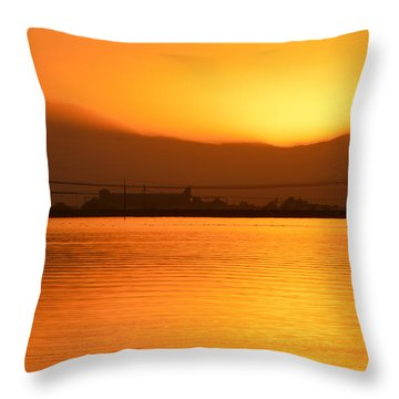 The Hour Is Golden Throw Pillow