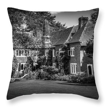 Throw Pillow featuring the photograph The House At Beech Court Gardens by Ryan Photography