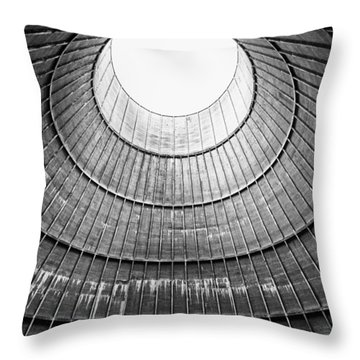 The House Inside The Cooling Tower - Industrial Decay Throw Pillow by Dirk Ercken