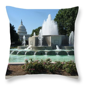 The House Of Democracy Throw Pillow by Rod Jellison