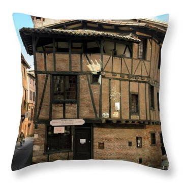 The House Of The Old Albi Throw Pillow by RicardMN Photography