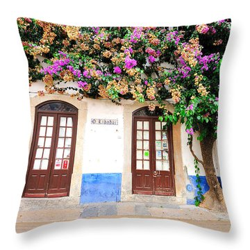 The House With The Bougainvillea Throw Pillow