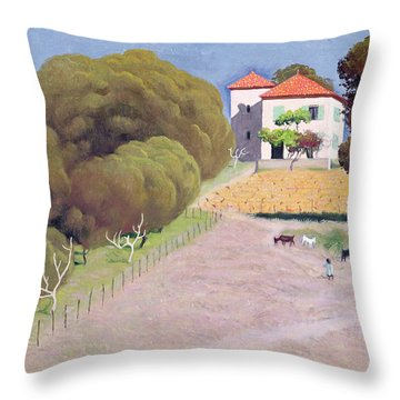 The House With The Red Roof Throw Pillow by Felix Edouard Vallotton