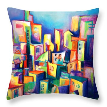 The Houses Throw Pillow