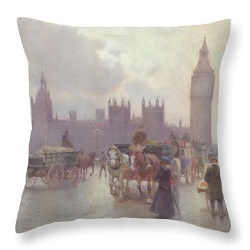 The Houses Of Parliament From Westminster Bridge Throw Pillow