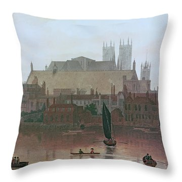 The Houses Of Parliament Throw Pillow by George Fennel Robson
