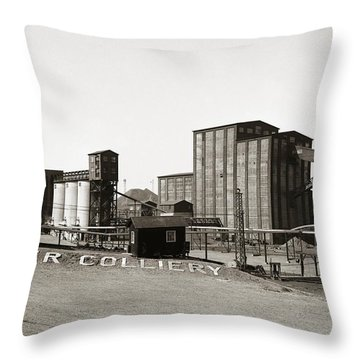 The Huber Colliery Ashley Pennsylvania 1953 Throw Pillow
