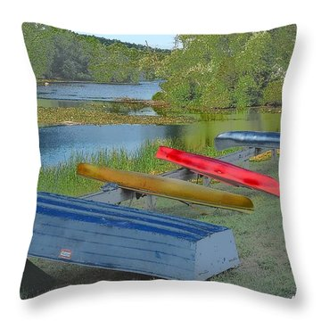 The Hues Of Hopewell Throw Pillow