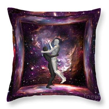 The Human Race Throw Pillow