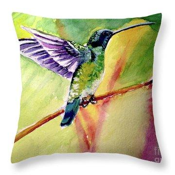 The Hummingbird Throw Pillow