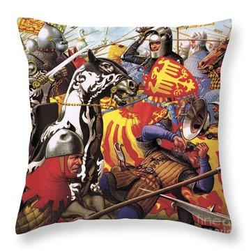 The Hundred Years War  The Struggle For A Crown Throw Pillow