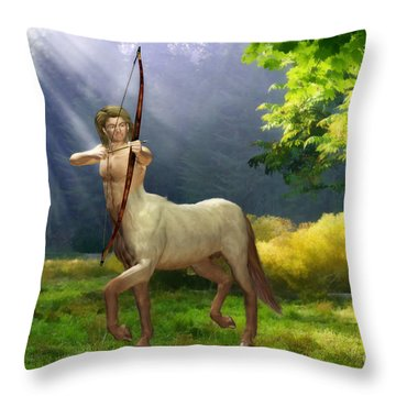 The Hunter Throw Pillow by John Edwards