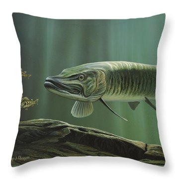 The Hunter - Musky Throw Pillow