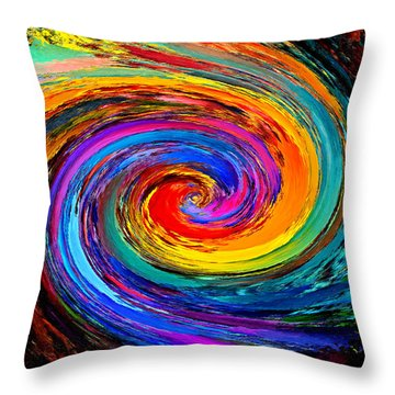 The Hurricane - Abstract Throw Pillow