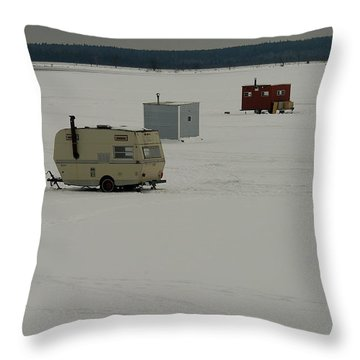 The Huts Throw Pillow