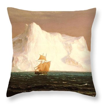 The Iceberg Throw Pillow by Frederic Edwin Church
