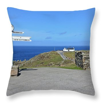 The Iconic Lands End Throw Pillow by Terri Waters