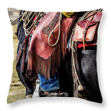 The Idaho Cowboy Western Art By Kaylyn Franks Throw Pillow